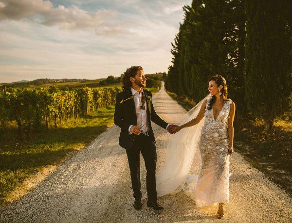 Matrimonio in Val d'Orcia Toscana
